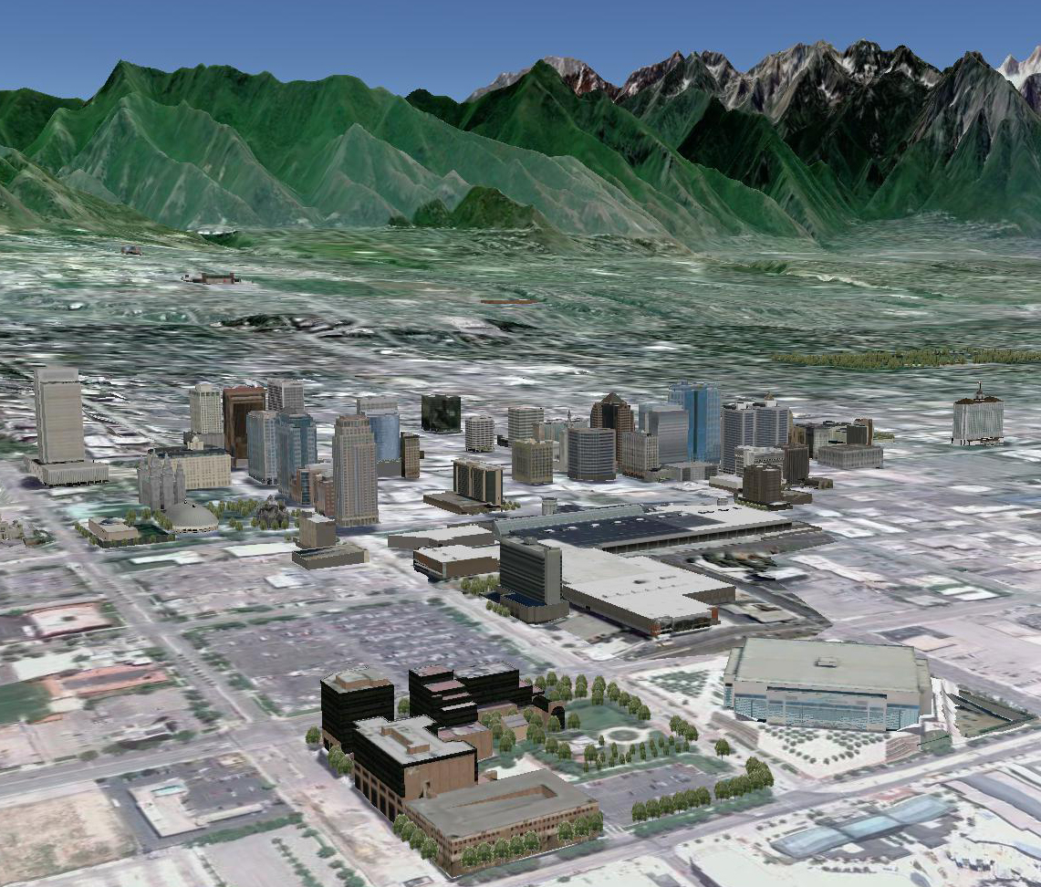 Salt Lake City Downtown Buildings: GEOG 1100: Exploring The World Through Google Earth